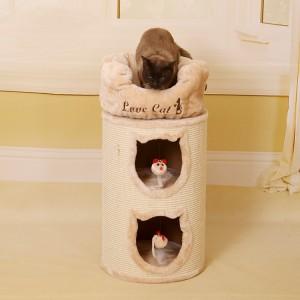 Sisal Castle Modern Climbing Scratch Pet Scratcher Wood Condo Furniture Tower Cat Tree