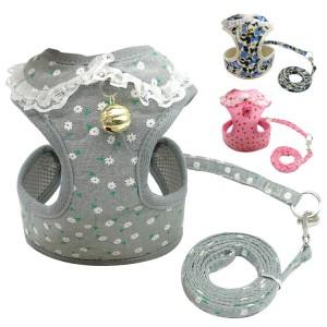 Dog Cat Harness Pet Walking Lead Harness Polyester Adjustable Reflective Breathable Mesh Dog Vest Harness