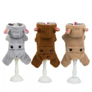 Manufacturer Wholesale Pet Wear Winter Pet Small Dog Clothing Grid Jacket Coat Dog Clothes